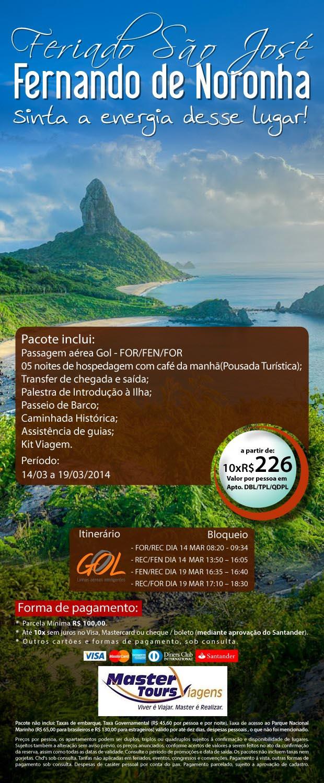 Aproveite para comprar o quanto antes o feriado de São José em Fernando de Noronha e sinta a energia desse lugar!  ( 85 ) 3064 4464
